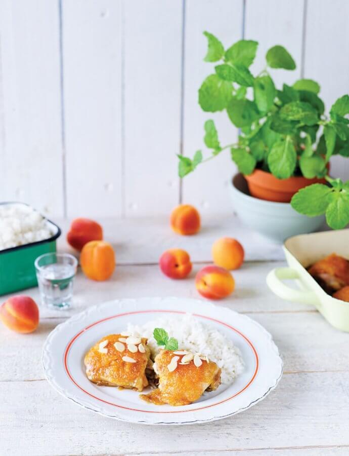 Kuřecí čtvrtky s meruňkovou omáčkou