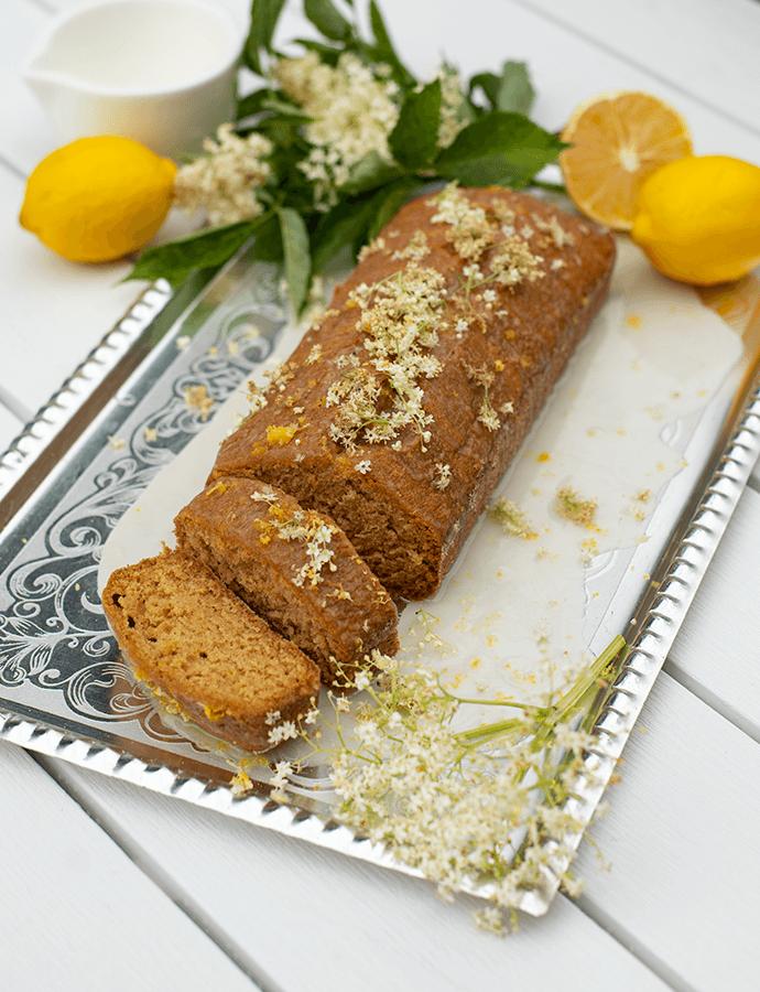 Citronovo-bezinkový chlebíček